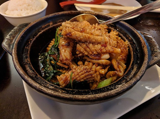 Basil squid at Taiwanese Bistro Cafe 33 - CP PHOTO: MAGGIE WEAVER