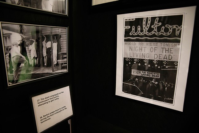 A photo from opening night at Fulton Theater, on display at the Night of the Living Dead Museum in Evans City - CP PHOTO: JARED WICKERHAM