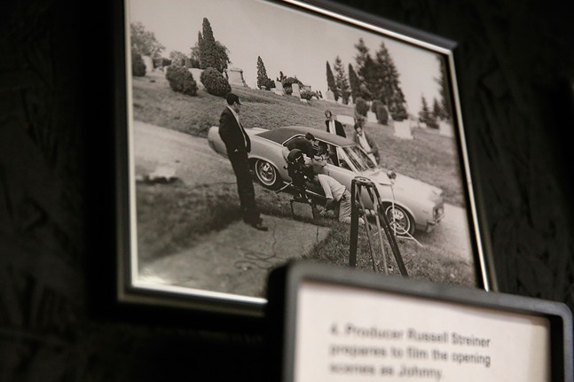 A photo from the filming of the movie is shown at the Night of the Living Dead Museum in Evans City - CP PHOTO: JARED WICKERHAM