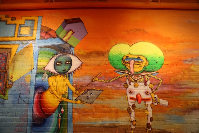 Artwork by OSGEMEOS - DAVID BERNABO