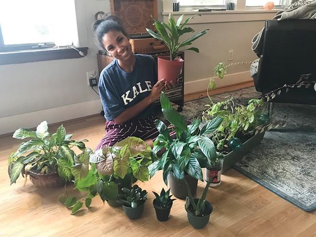 Jordan Snowden and her plants - MICHAEL TUITE