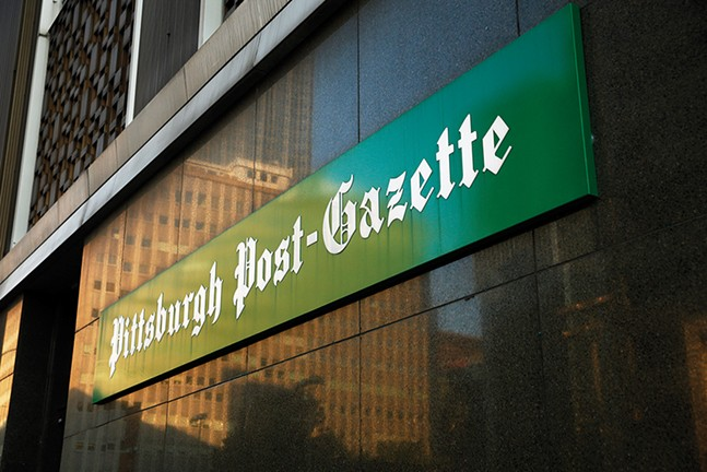 The former Post-Gazette building in Downtown - CP PHOTO: JARED WICKERHAM