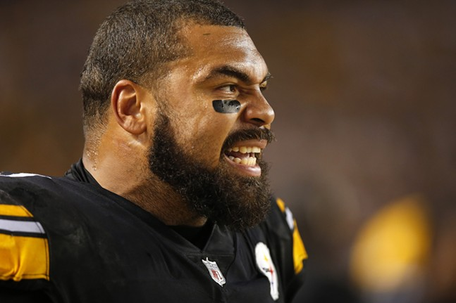 Cam Heyward yells from the sideline. - CP PHOTO: JARED WICKERHAM
