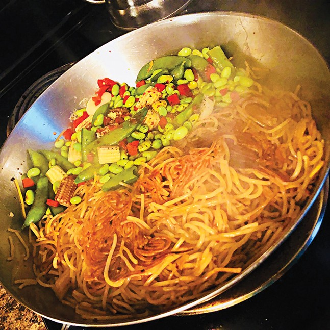 Double-Pan Fried Spaghetti - CP PHOTO: GAB BONESSO
