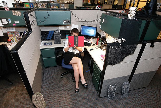 Amanda Waltz at her desk. - CP PHOTOS: JARED WICKERHAM