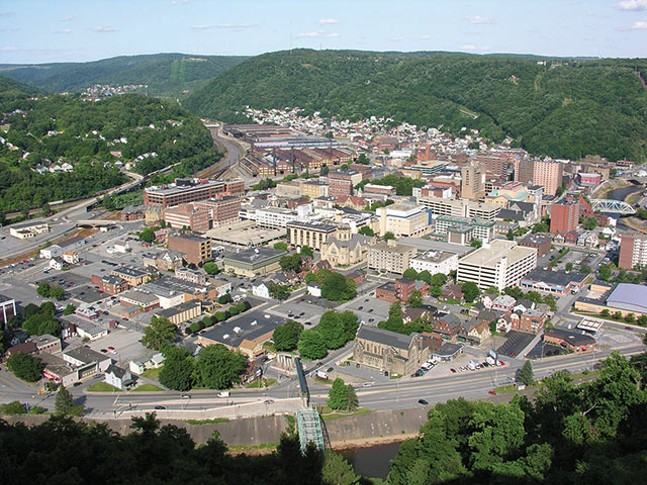 View from The Johnstown Inclined Plane
