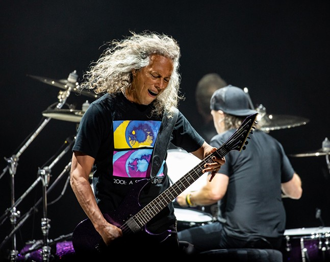Kirk Hammett - CP PHOTO: MIKE PAPARIELLA