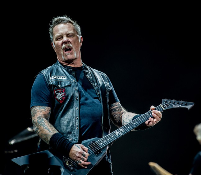 James Hetfield - CP PHOTO: MIKE PAPARIELLA