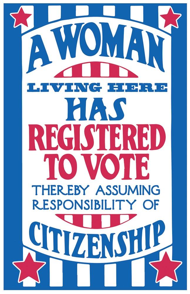 Matt Buchholz of Alternate Histories cleaned up a vintage women's suffrage poster. - 1919 ARTWORK RESTORED BY ALTERNATE HISTORIES