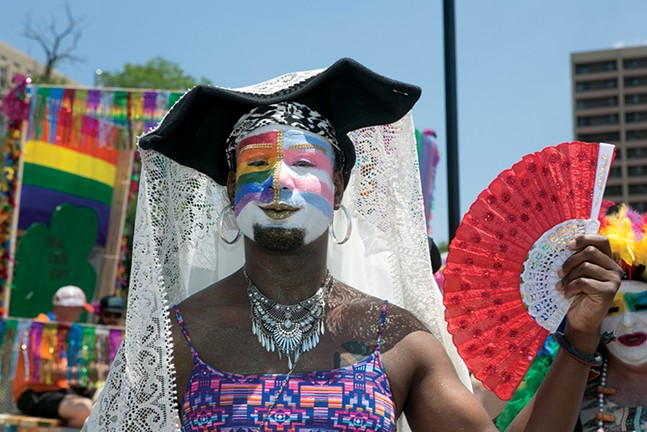 Steel City Sister Shaquilla O'Neal at Pittsburgh Pride - CP PHOTO: JOHN COLOMBO