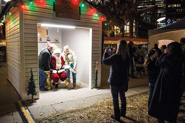 Santa visits the Holiday Market in Market Square. - CP FILE PHOTO