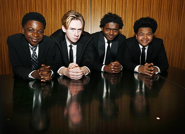 Funky Fly Project (L-R): Brandon Terry, Henry Schultz, Eric Dowdell, Jr., and Winston Bell - CP PHOTO: JARED WICKERHAM