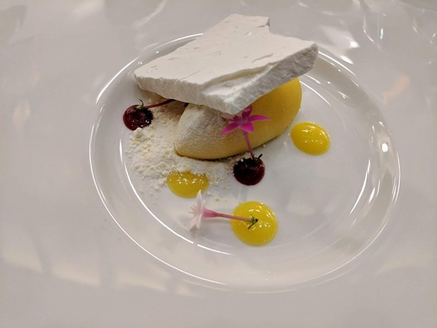 White chocolate mousse with lemon curd and raspberry jam - CP PHOTO: MAGGIE WEAVER