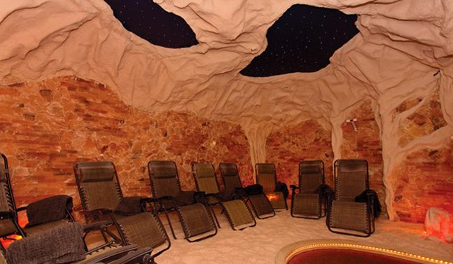 The Himalayan salt cave at Peace, Love & Zen