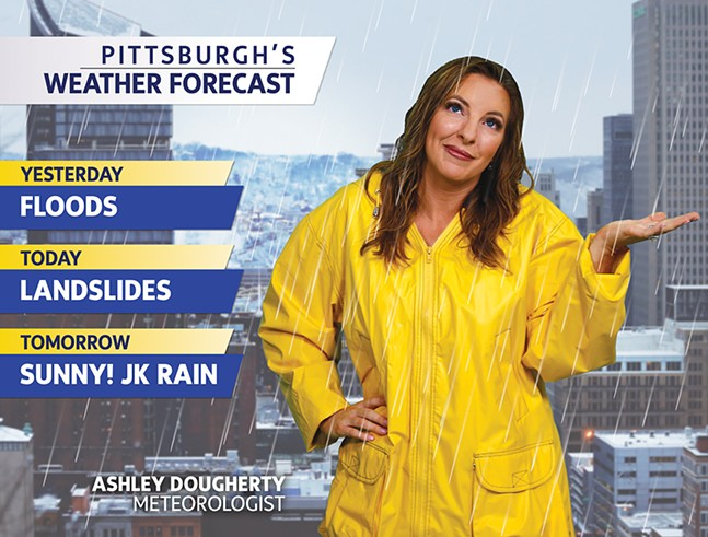 WTAE meteorologist Ashley Dougherty - CP PHOTO BY JARED WICKERHAM