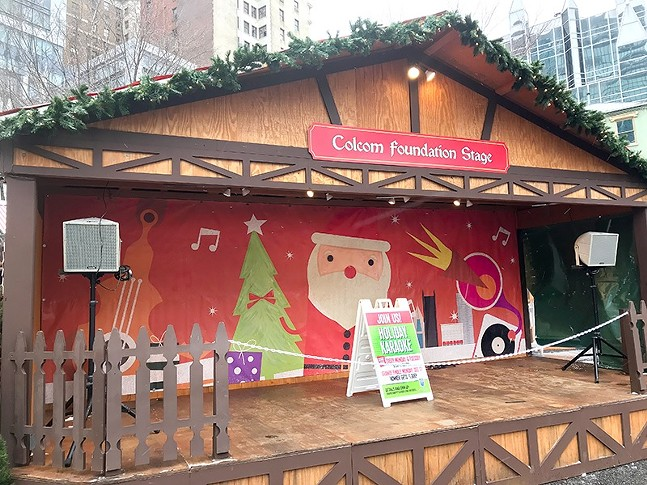 Colcom stage at Peoples Gas Holiday Market - CP PHOTO: RYAN DETO