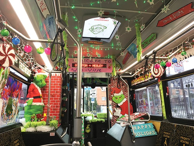 This holiday bus favors the Grinch. - CP PHOTO: AMANDA WALTZ
