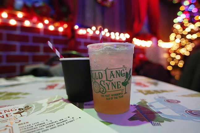 The Noche de Navidad and Old Laing Sighs cocktails at Auld Lang Syne - CP PHOTO: JARED WICKERHAM