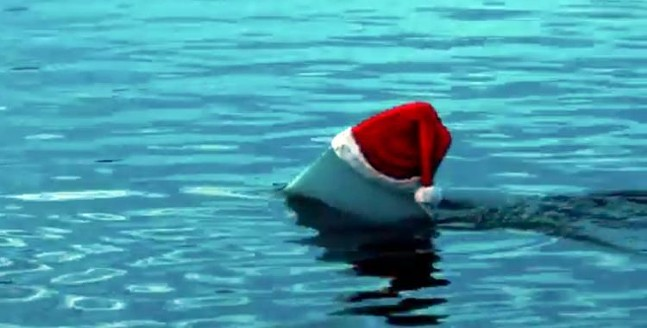 Santa Jaws is coming to town! - SCREENSHOT OF SANTA JAWS