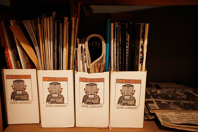 The Mr. Roboto Project zine library - CP PHOTO: JARED WICKERHAM