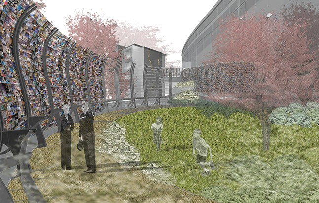 "An artist's rendering of ""Curtain Call"" - HOOD DESIGN STUDIO"