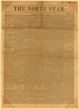 North Star front page from June 1848 - PHOTO: WIKICOMMONS