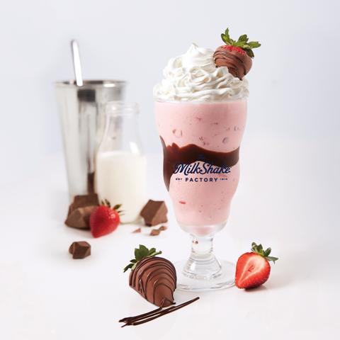 Chocolate raspberry truffle milkshake