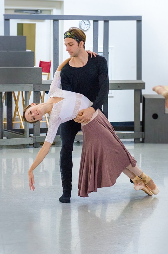 PBT dancers Lucius Kirst and Alexandra Kochis in rehearsal - AIMEE DIANDREA