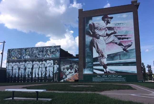 Mural outside of Negro Leagues Baseball Museum in Kansas City - CP PHOTO: RYAN DETO