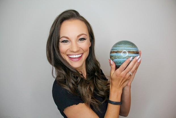 Emily Calandrelli and Jupiter
