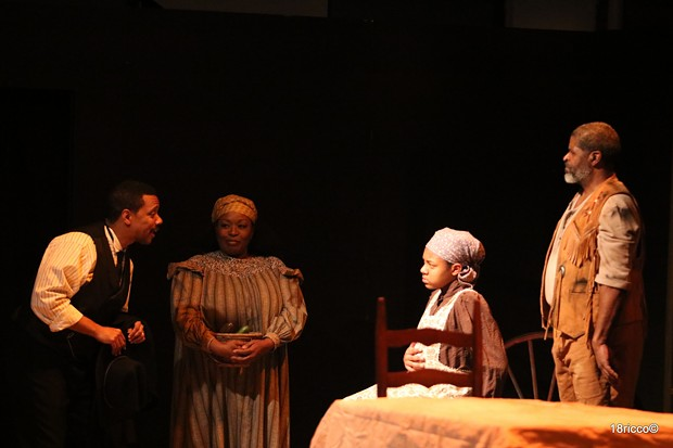 From left: Jonathan Berry, Cheryl El-Walker, Aaliyah Sanders, and Wali Jamal in Savior Samuel - PHOTO: RICCO MARTELLO