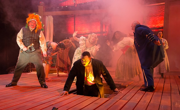 Martin Giles, Ananias J. Dixon and company in An Octoroon - PHOTO: ROCKY RACO