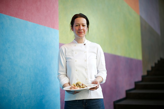 Chef Sonja Finn serves up artistic plates at Carnegie Museum of Art - CP PHOTO: JARED WICKERHAM