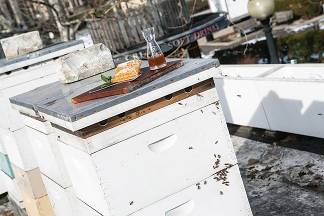 Locally-sourced honey is a highlight in The Porch's menu. - CP PHOTO: JOHN COLOMBO