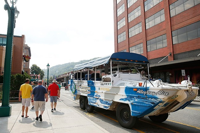 A Just Ducky tour boat in Station Square - CP PHOTO: JARED WICKERHAM