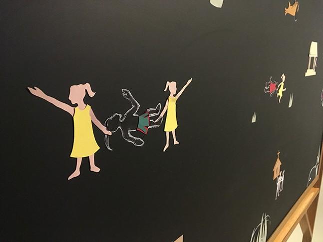 The Tales of Red Rag Rosie Chalkboard by Shervone Neckles - CP PHOTO: AMANDA WALTZ