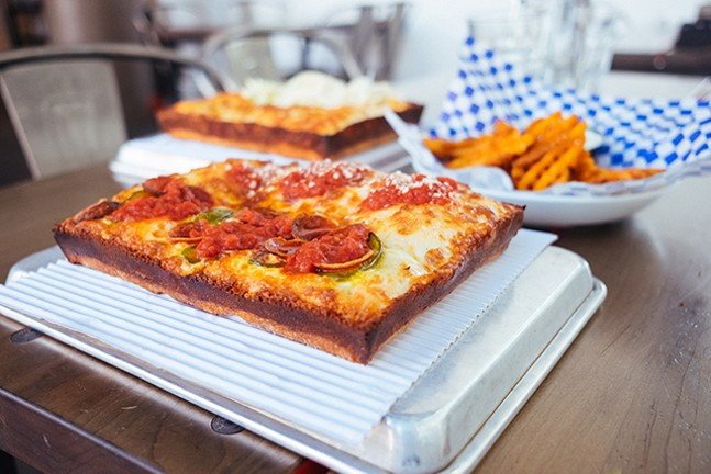 Michigan & Trumbull pizza - CP PHOTO: JARED MURPHY