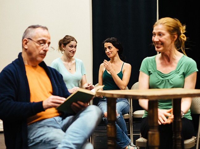 Rehearsals for Cross-Stitch Theater Company's Pride and Prejudice - CP PHOTO: JARED MURPHY