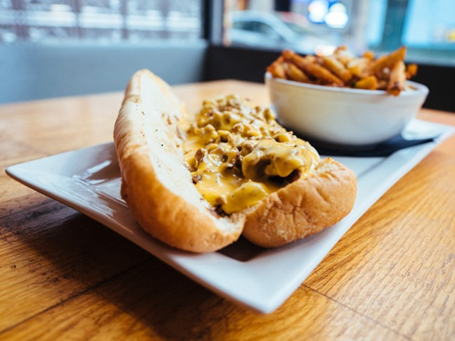 Philly Cheesesteak made with a Philadelphia Amoroso roll, freshly shaved rib eye, and cheese whiz - CP PHOTO: JARED MURPHY