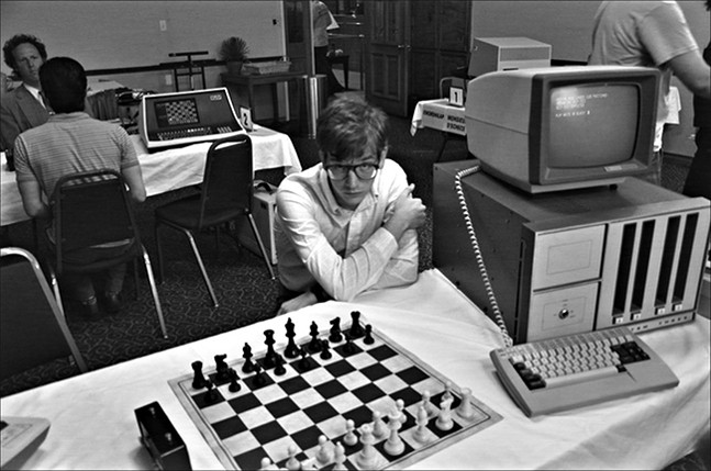 Patrick Riester as Peter Bishton in Computer Chess - PHOTO: KINO LORBER