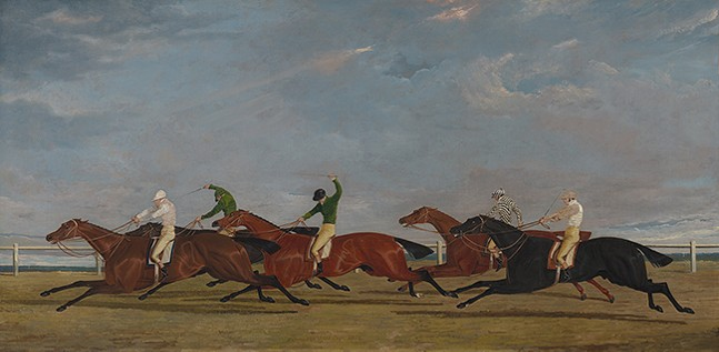 John Frederick Herring Sr. (English, 1795 - 1865), The Final Lengths of the Race for the Doncaster Gold Cup - IMAGE: VIRGINIA MUSEUM OF FINE ARTS