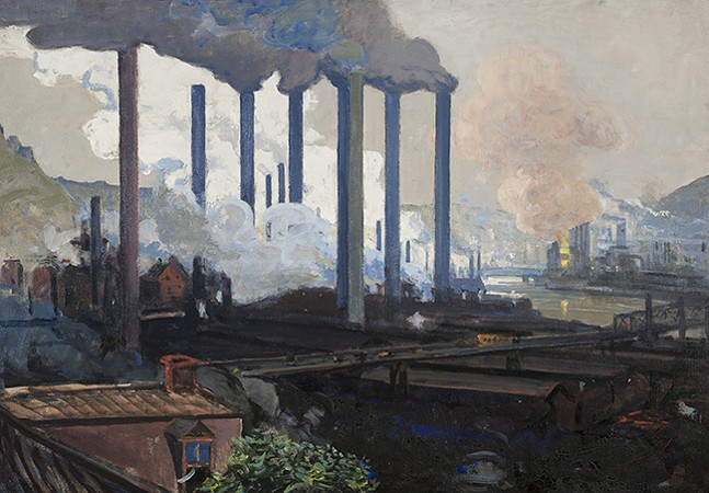 Johanna K. W. Hailman, Jones and Laughlin Mill, Pittsburgh (detail) - IMAGE: CARNEGIE MUSEUM OF ART