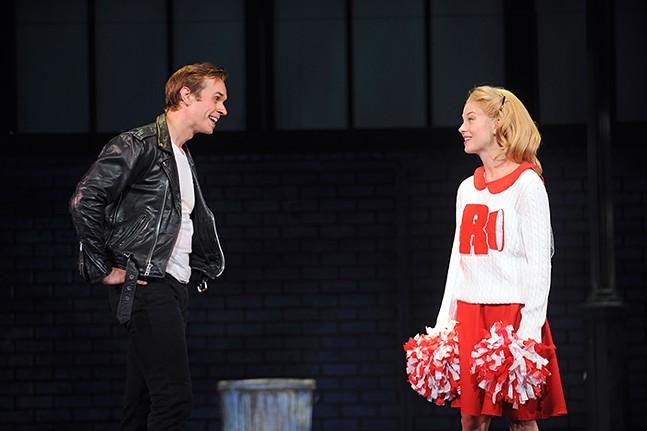 Zach Adkins (Danny) and Kirsten Martin (Sandy) in Grease - PHOTO: MATT POLK