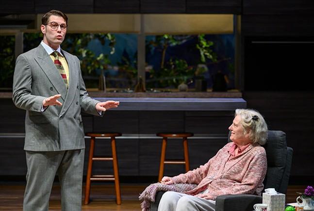 Ben Blazer and Jill Tanner in Marjorie Prime - MICHAEL HENNINGER