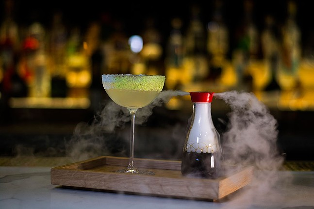 Sake sour with soy sauce steam - PHOTO: BRIDGES & BOURBON