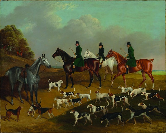 Waiting at the Meet, 1832. Edwin Cooper - PHOTO: VIRGINIA MUSEUM OF FINE ARTS.