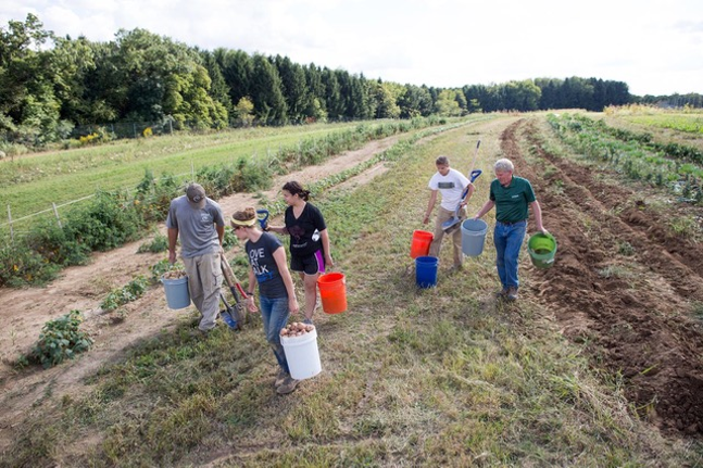 Farming at Chatham University's Eden Hall campus - PHOTO: CHATHAM UNIVERSITY