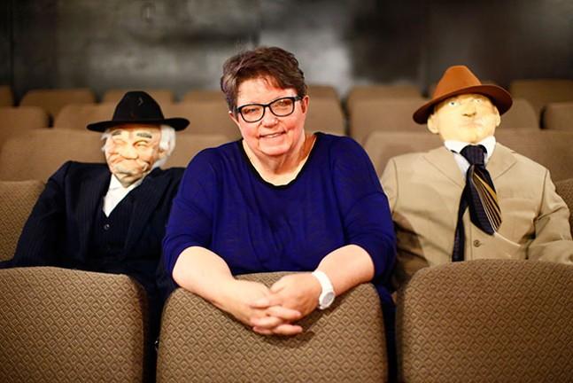 Lora Oxenreiter poses for a portrait inside McKeesport Little Theater - CP PHOTO: JARED WICKERHAM