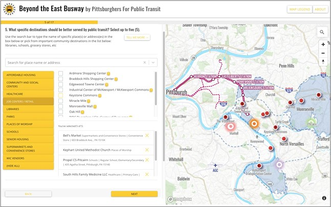 SCREENSHOT FROM EASTBUSWAY.PITTSBURGHFORPUBLICTRANSIT.ORG