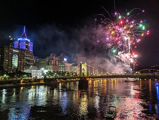 Fireworks in Downtown Pittsburgh - CP PHOTO: LISA CUNNINGHAM